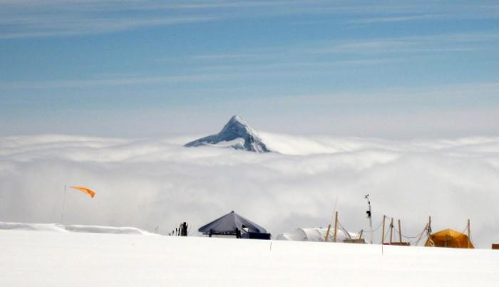 Denali Camp 4 view Mt Foraker