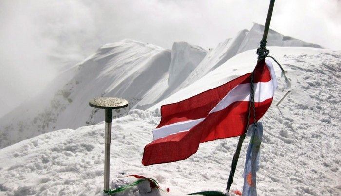 Denali Summit Latvian Flag