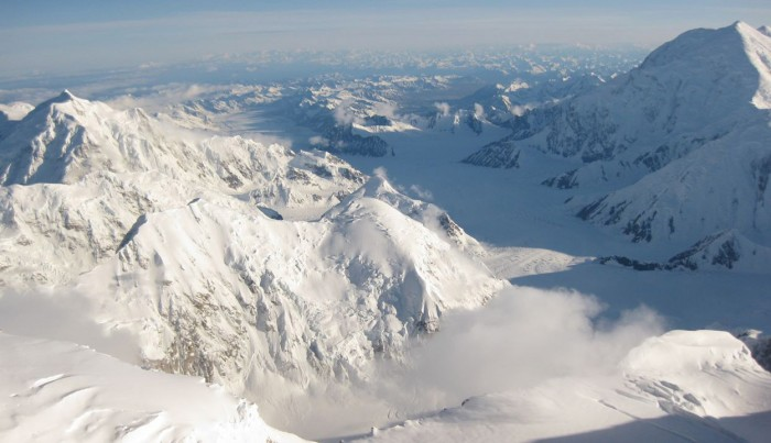 Denali view from High Camp 17000 ft 5000 m
