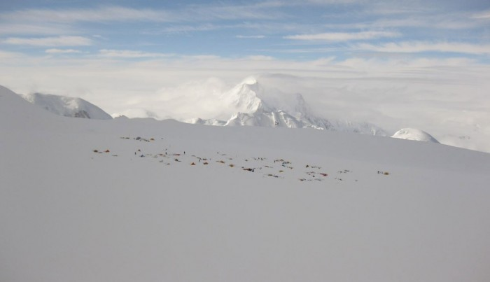 Denali view Camp 4 from above